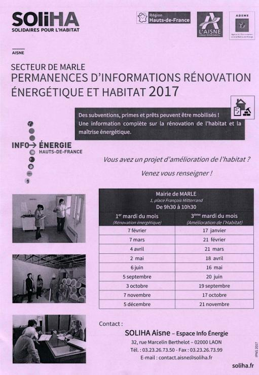 PERMANENCES ENERGETIQUE ET HABITAT 2017